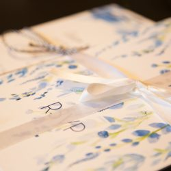 Hand-illustrated wedding stationery
